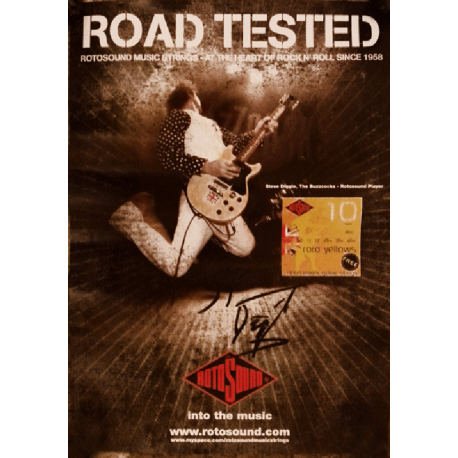 Steve Diggle Road Tested (signed) Poster