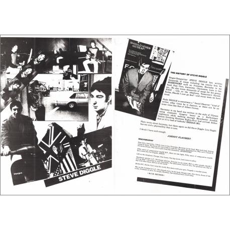 Steve Diggle FOC Promo Sheet (signed) Poster