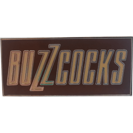 Buzzcocks Logo Enamel Badge (Brown)