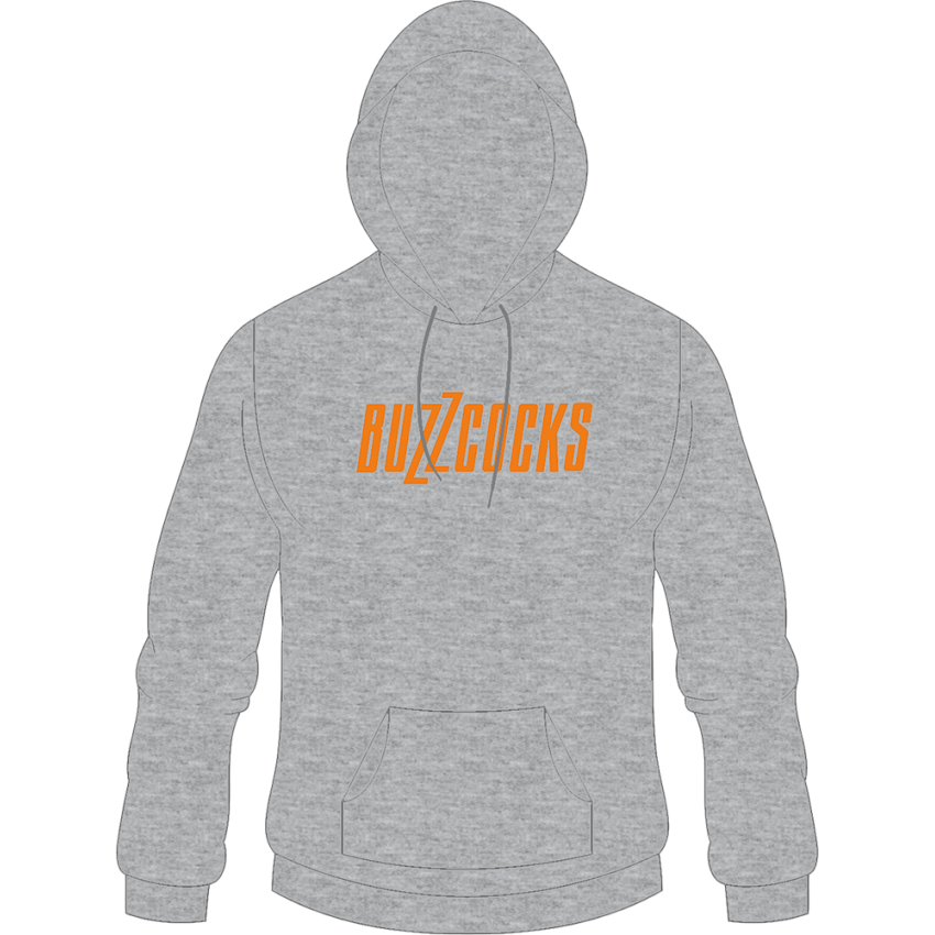 Orange Logo Light Grey Hoodie