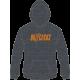 Orange Logo Grey Hoodie