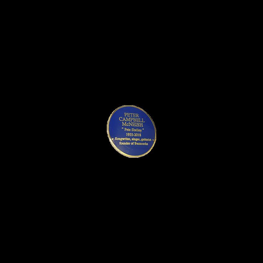 Buzzcocks Shelley Memorial Enamel Badge